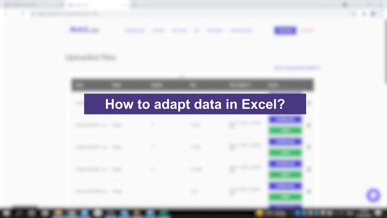 How to adapt data in Excel? Mailcheck.co