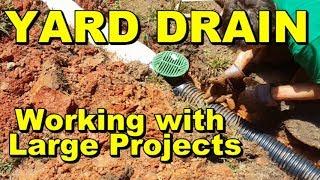 DIY Yard Drain Larger Jobs, Garage Waterproofing, Driveway Cuts, French Drain Install