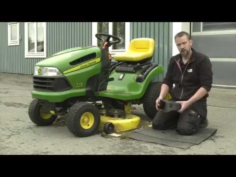 Fantastisk Sätta dit ny rem på gräsklippare - YouTube TG-44