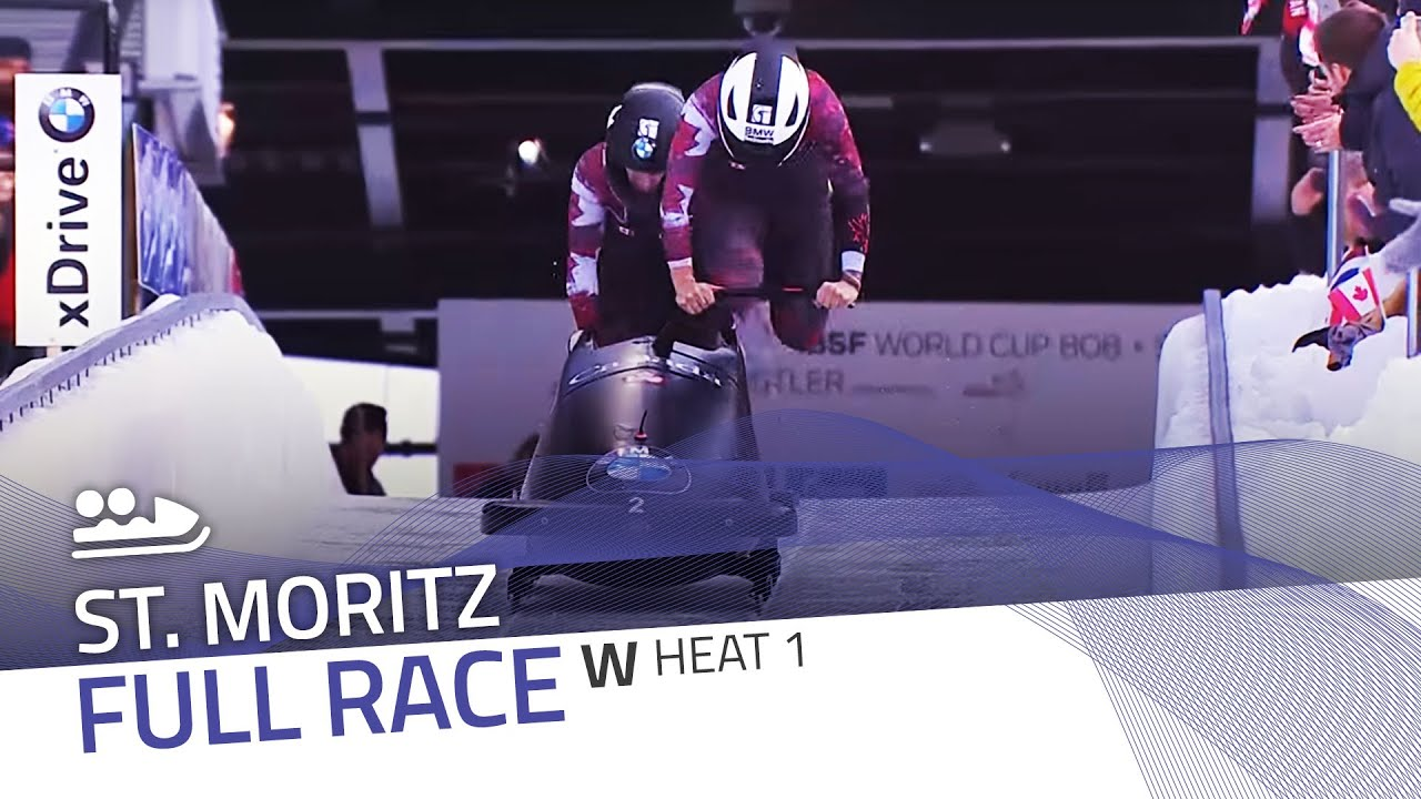 St. moritz | bmw ibsf world cup 2015/2016 - women's bobsleigh heat 1 | ibsf official