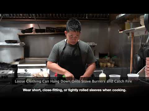 Chef Johnny's Video Tips: Keep Loose Clothing Away While Cooking