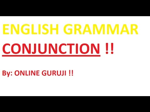 CONJUNCTION - PART 1( SSC CGL|BANK PO| CLERICAL| CDS| MBA| NDA)