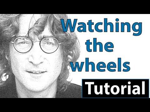 "Como tocar ""Watching the wheels""(John Lennon) - Piano tutorial, partitura y Mp3"