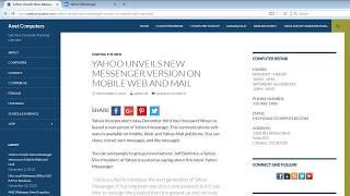 Video Yahoo - Unveils New Messenger Version on Mobile Web and Mail download MP3, 3GP, MP4, WEBM, AVI, FLV Maret 2018