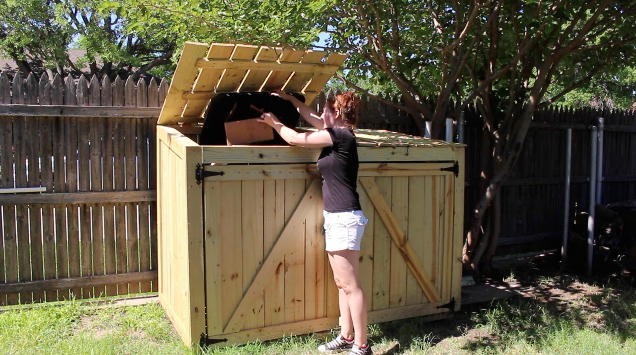 Building A Garbage Can Enclosure