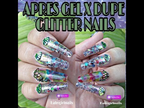 FINAL Apres Gel X DUPE Nail Look \u0026 Alcohol Inks Over Blossom Gel