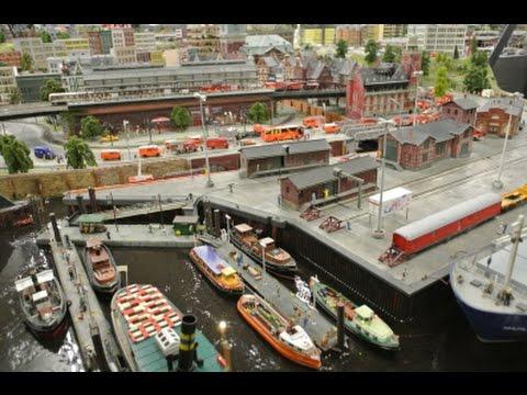 Compilation HD Haute définition Le Miniatur-Wunderland  Hambourg, Allemagne (03662 fr)