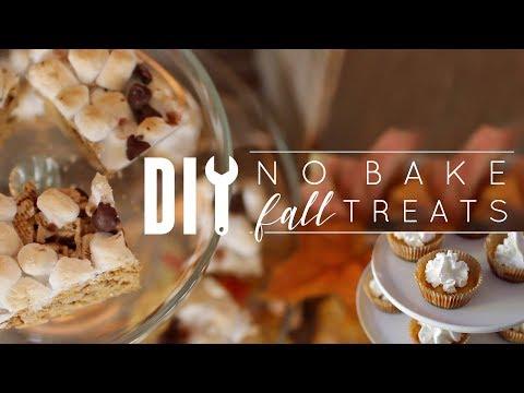 DIY No Bake Fall Treats
