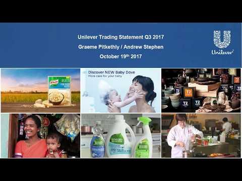 Unilever Q3 2017 results presentation