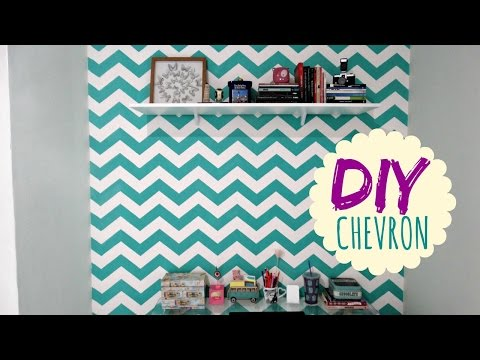 DIY CHEVRON: Mudando a parede com Stencil Decor | Decor Feelings