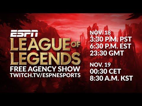 ESPN League Of Legends Free Agency Show | ESPN Esports