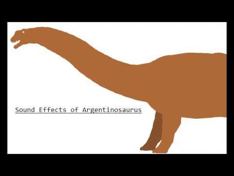 Argentinosaurus sounds
