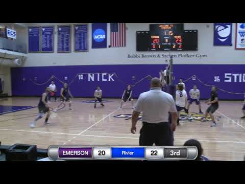 Men's Volleyball Highlights || Rivier @ Emerson (3/31/18)