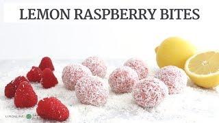 Lemon Raspberry Bites | Gluten-Free Vegan Healthy Snack | Limoneira