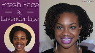 My First (and maybe last) Makeup Video! Basic Face + Bold Lavender Lips