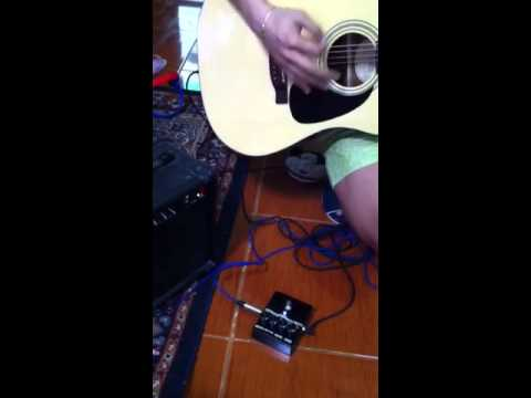 DIY stomp box shred test using acoustic guitar