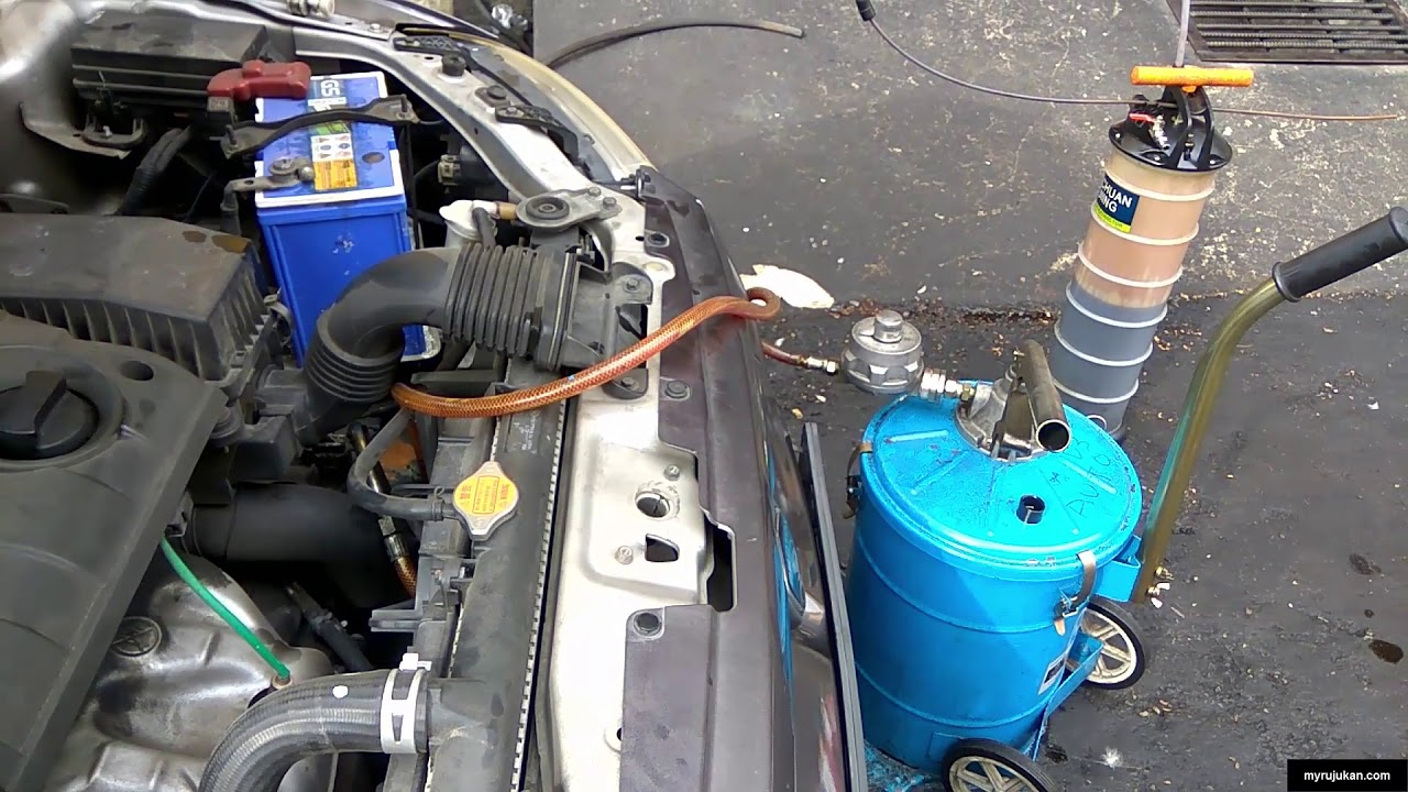 Proses Tukar Minyak Gear Box Auto Proton Saga