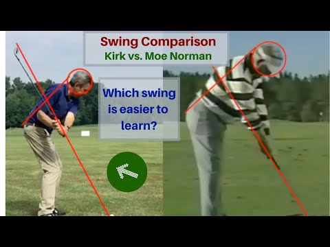 Setup 4 impact Golf swing different/easier than the Moe Norman swing.