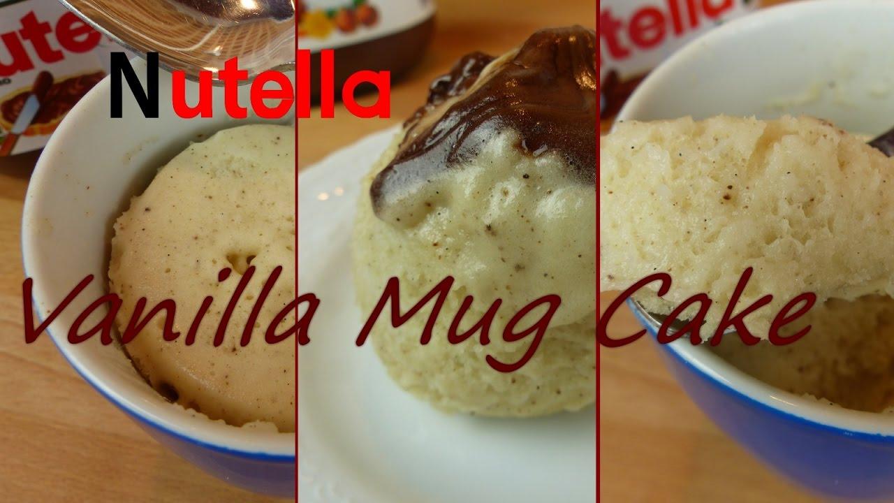 Vanille Tassenkuchen Mit Nutella Kern Mikrowellenkuchen Selber