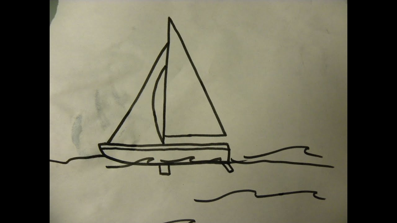 kids can draw easy sail boat for kids youtube