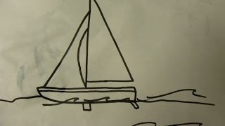 Kids Can Draw: Easy sail boat for kids