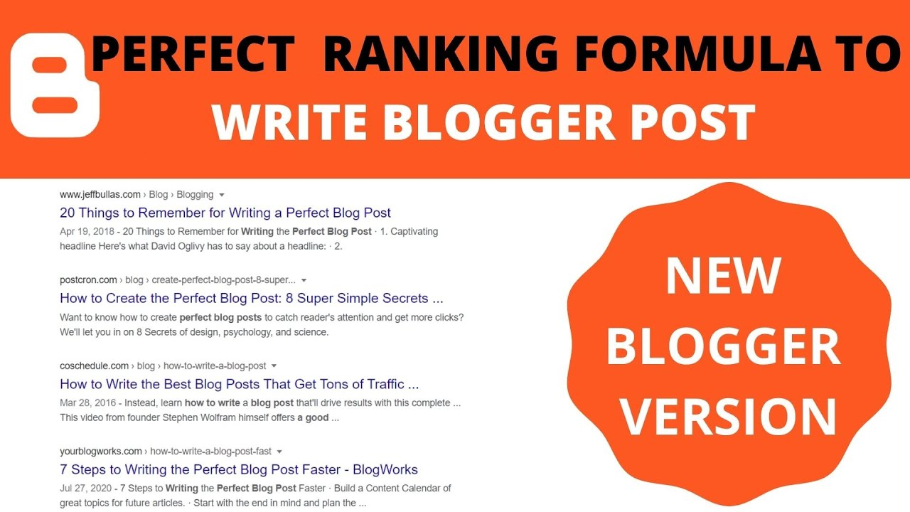 HOW TO WRITE POST IN BLOGGER  BLOGGER POST WRITTING FORMAT