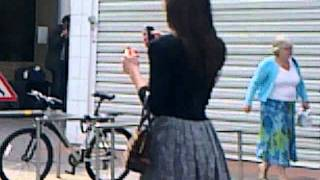 Emma Fryer Acting up in Sutton Riots 2011 - 20110809025.mp4