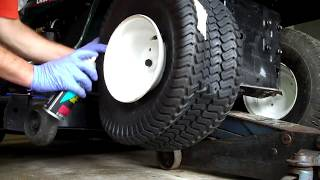 Lawn tractor tire wont inflate, try this!