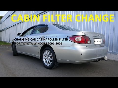 How to replace a cabin air filter on Toyota Windom / Lexus ES300 2002  2005