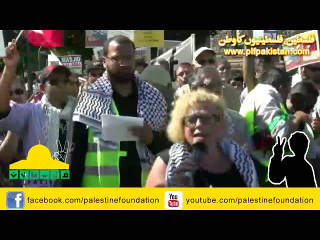 PLF Al-Quds Rally Toronto -Speech by Sandra Ruch, Jewish organizer of the Canadian Boat to Gaza