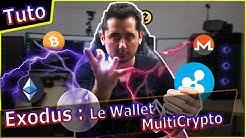 Exodus Wallet Bitcoin et multi Crypto simple et beau !