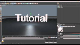 Cinema 4D Tutorial 3D Text erstellen/Explosion hinzufügen [German/Deutsch] [HD]