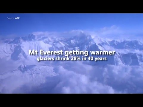 Mt Everest getting warmer, glaciers shrink 28% in 40 years