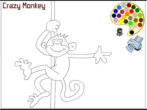 Monkey Coloring Pages For Kids Monkey Coloring Pages Youtube