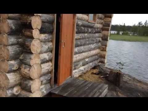 Обзорное видео домика на острове в Карелии.