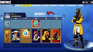 *NEW* MAX Level TIER 100 Season 5 Battle Pass SKINS CONFIRMED | Fortnite Battle Royale Season 5 Theme
