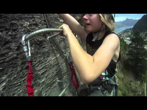 Klettersteig Queenstown : Via ferrata with climbing queentown youtube