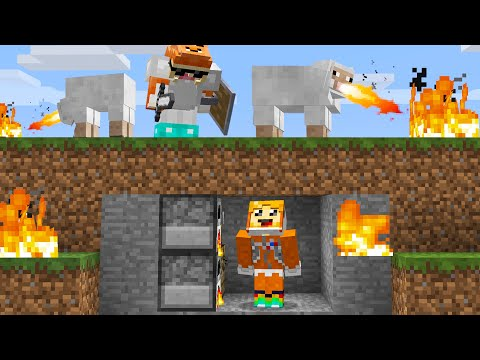 minecraft manhunt but mobs have CUSTOM abilities
