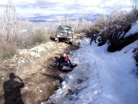 katie at Cleghorn trails