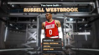 NBA2K20 RUSSELL WESTBROOK BUILD - TRIPLE DOUBLE DEMIGOD BUILD