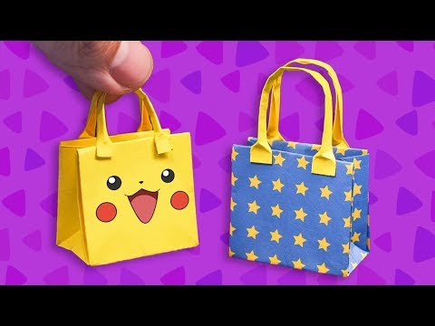 Easy Origami Paper Bag - How to make a paper Bag
