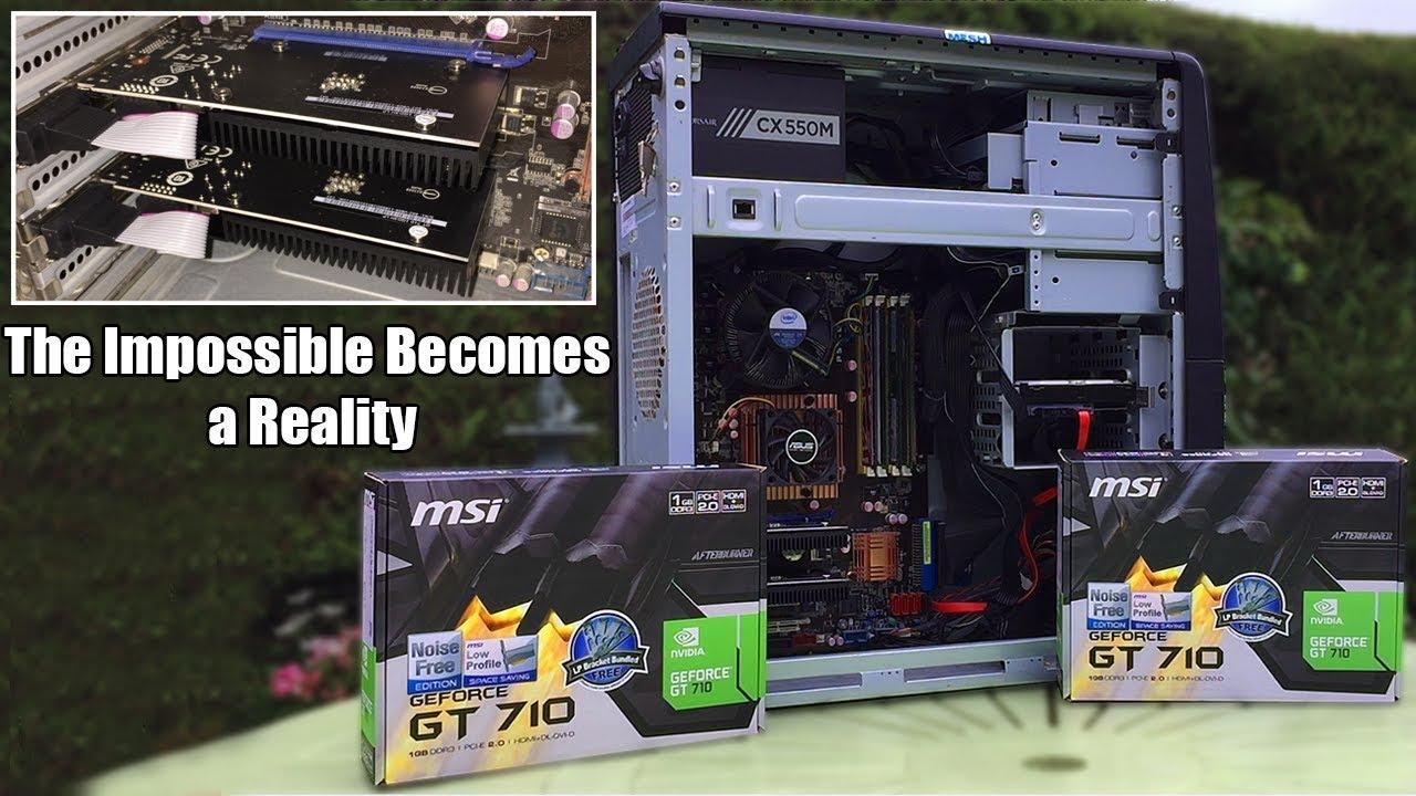 The GT 710 SLI Hack
