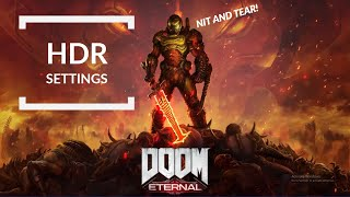 Doom Eternal HDR Settings & Recommendation Guide