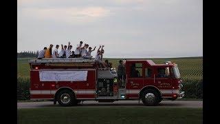 HUDSON HIGH SCHOOL STATE BASEBALL FIRE TRUCK RIDE!