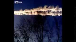 Incredible Video of Meteor in Russia HD, Meteorite Fall in Russia Hurts More than 500 People 02.2013