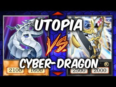 Yugioh CYBER-DRAGONS vs UTOPIA (Yu-gi-oh Competitive Deck Dueling)
