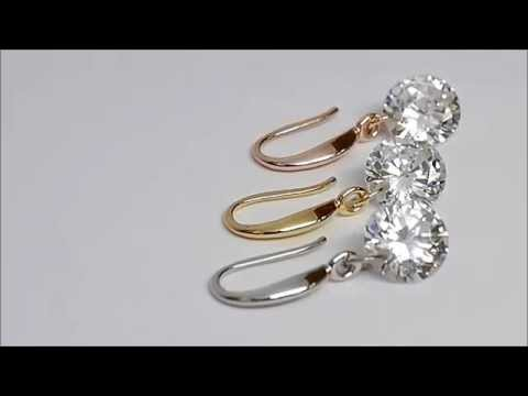 Naked Drill Earrings in Yellow Gold, Rose Gold, or Sterling Silver