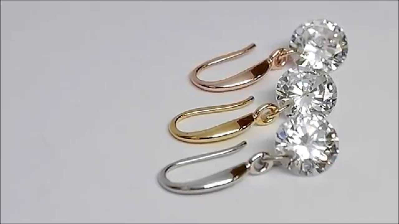 earring golden naked