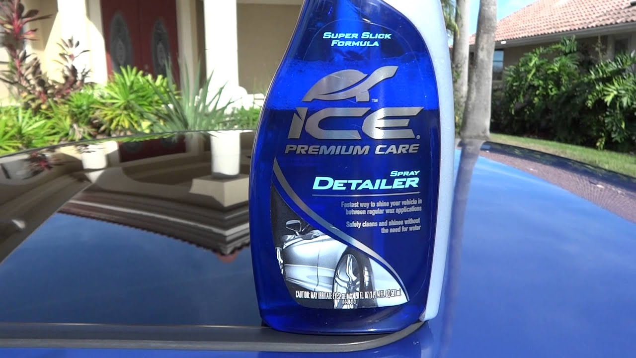 Tutle Wax Ice Premium Care Spray Detailer Test Review Results Before And After On My Honda