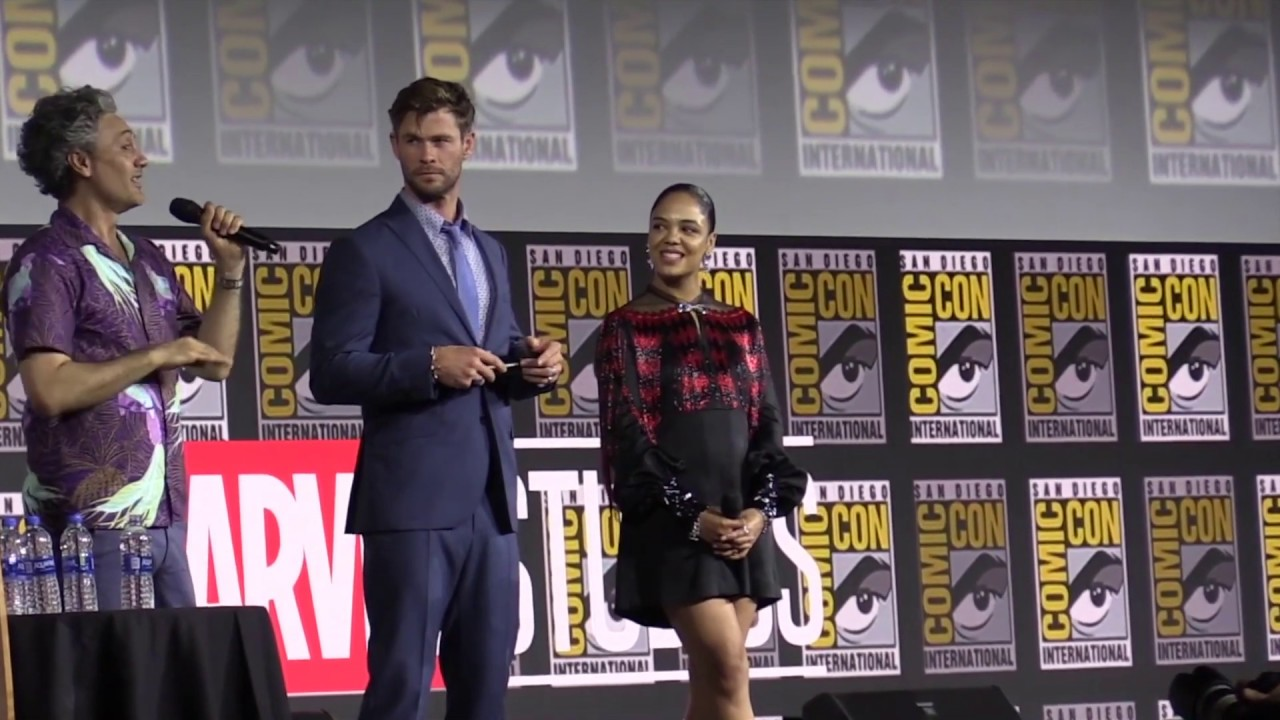 THOR Panel / Comic Con 2019 - Chris Hemsworth, Tessa Thompson, Taika Waititi (Part 1/2)
